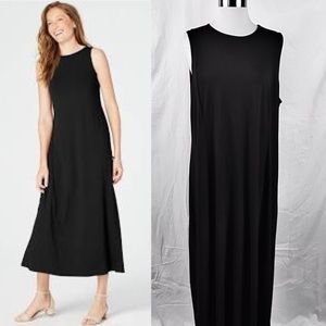 NWT✨J.JILL Weareever Black Maxi Sleeveless Dress L